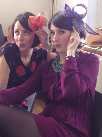 glam hatters fascinator making