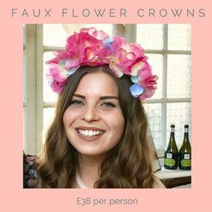 faux flower crowns