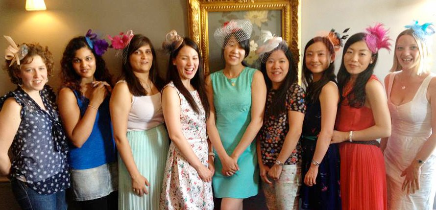 hen party fascinator making in Bristol