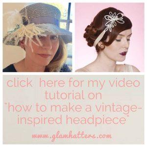 glam hatters DIY hat video tutorial