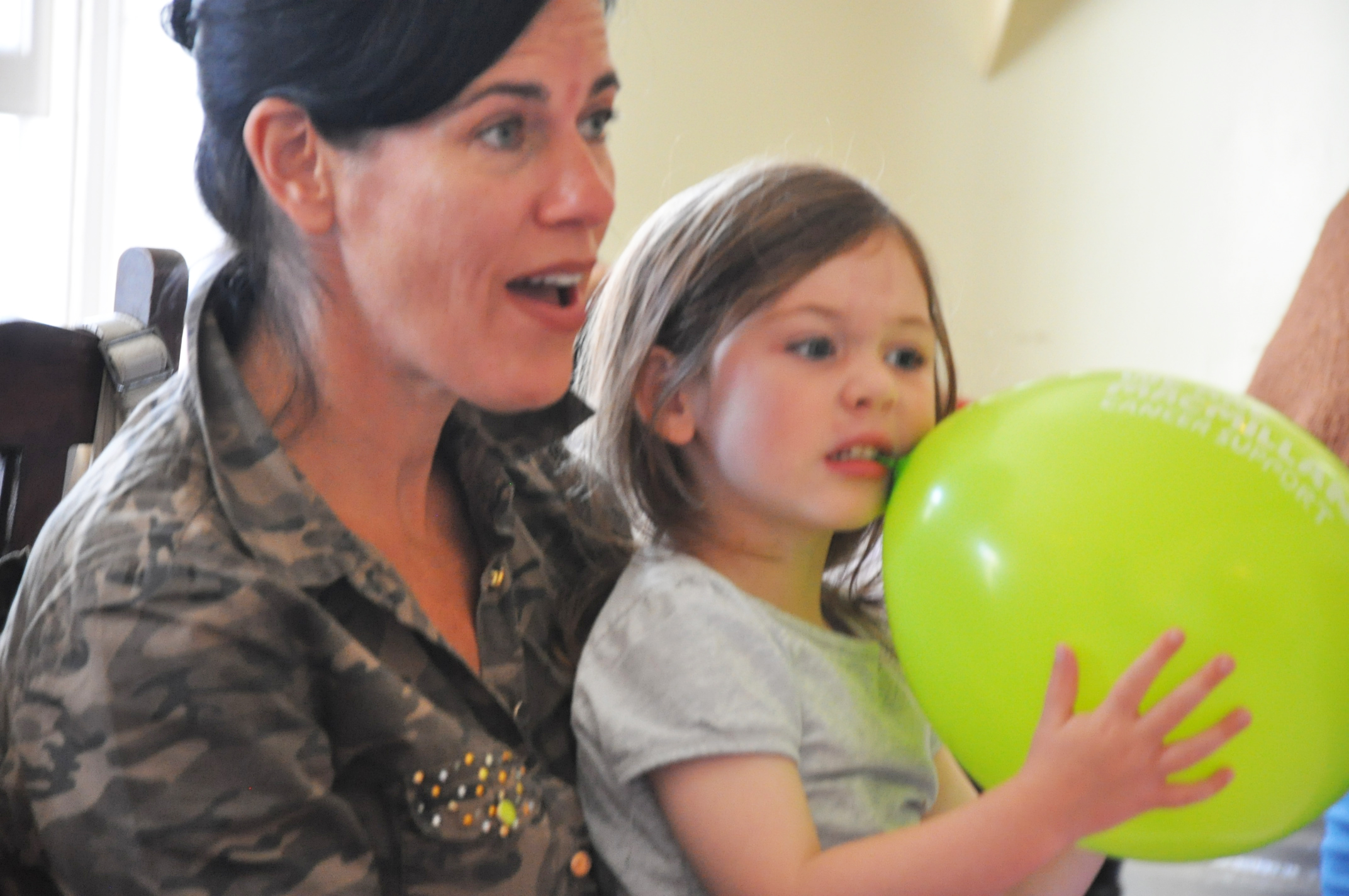 Macmillan provided the balloons which were a bit of a hit!