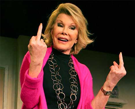 Joan Rivers my (bitchy) soul sister!
