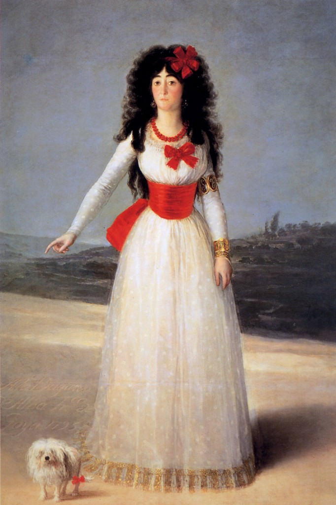 Goya-De Francisco-Jose, The duchess of Alba Sun.