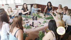 flower crown workshop Yorkshire