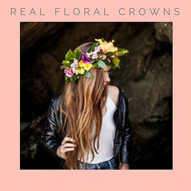 Floral crown hen party