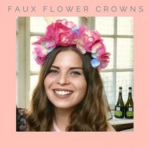 Fabric Flower Crown Hen Do