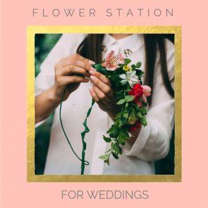 Pop Up Wedding Flower Station