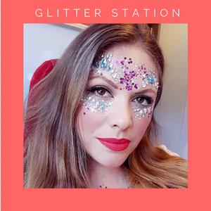 pop up glitter station
