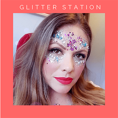 pop up glitter station