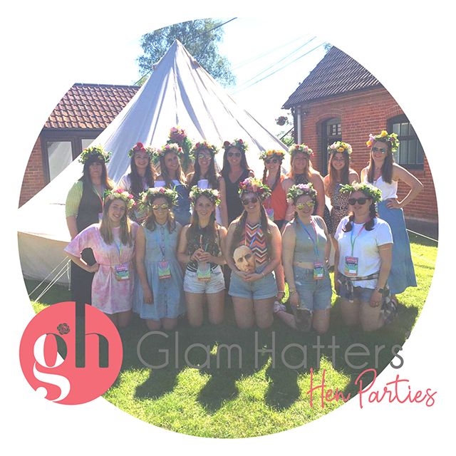 Glamping hen party in Somerset